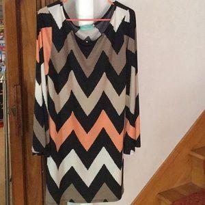 Large filly flair chevron stripe dress